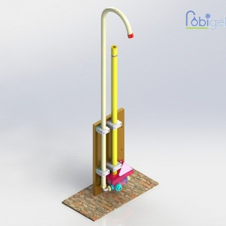 Robinet public avec sortie d'eau à vidange automatique